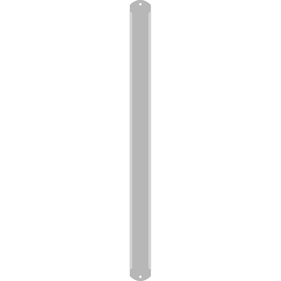"1"" Vertical Character  Aluminum Holder - Fits 7 Characters"