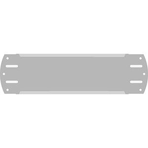 "2"" Horizontal Character  Aluminum Holder - Fits 4 Characters"