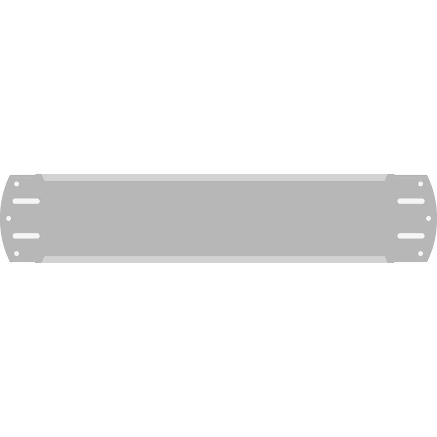 "2"" Horizontal Character  Aluminum Holder - Fits 6 Characters"