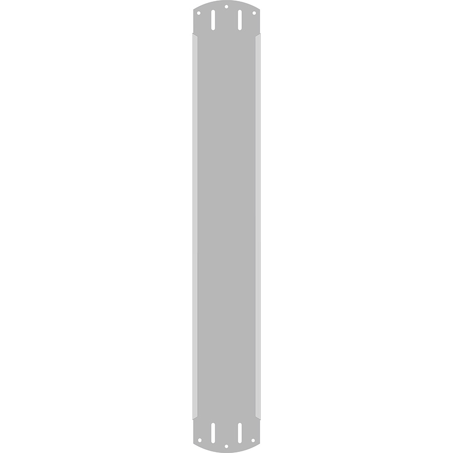 "3"" Vertical Character  Aluminum Holder - Fits 4 Characters"