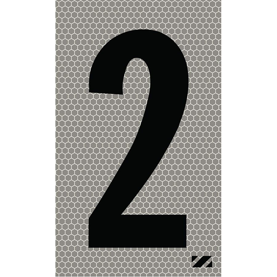 "2"" Black on Silver SunBright® Reflective ""2"""