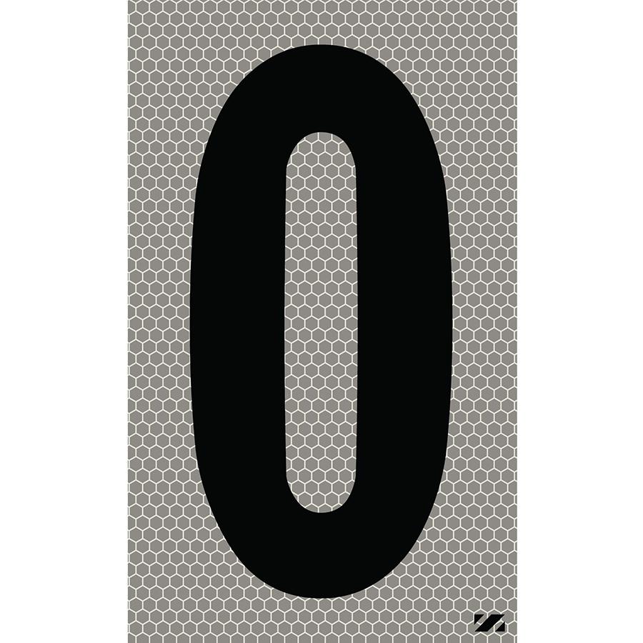 "2.5"" Black on Silver SunBright® Reflective ""0"""