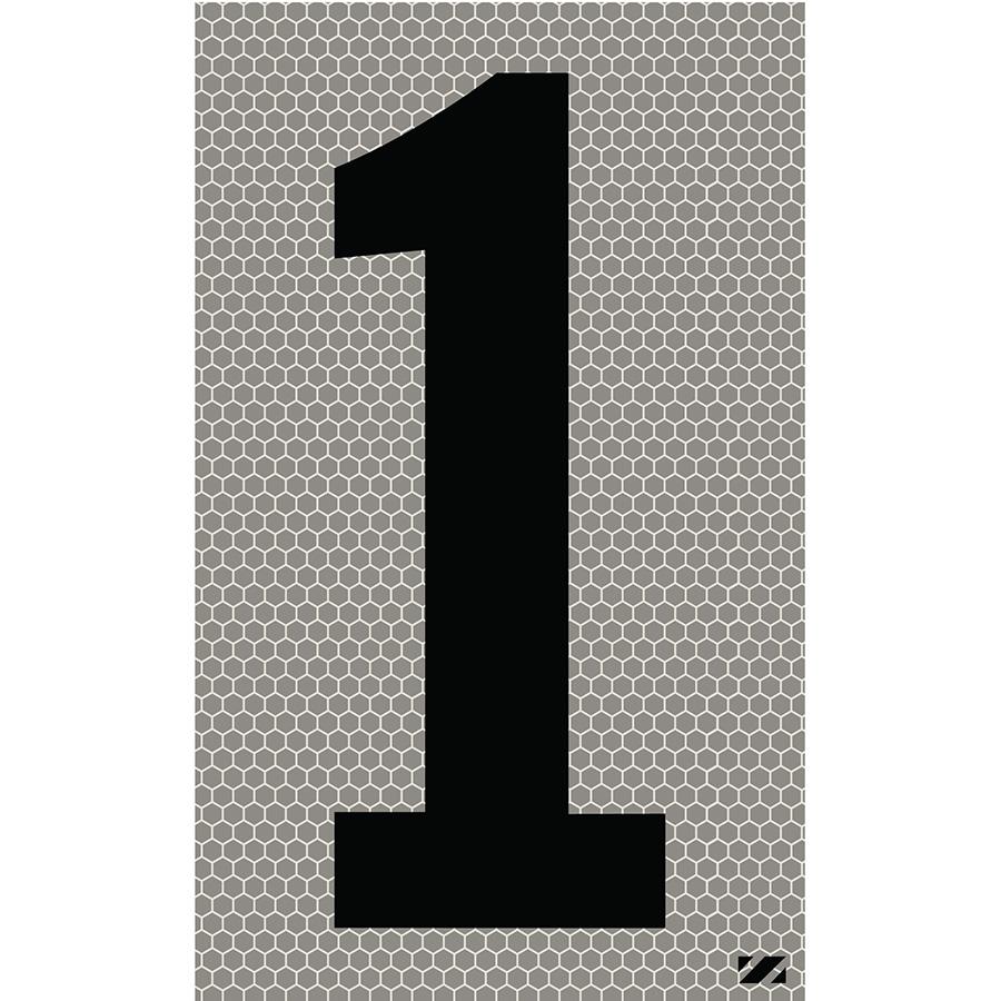 "2.5"" Black on Silver SunBright® Reflective ""1"""