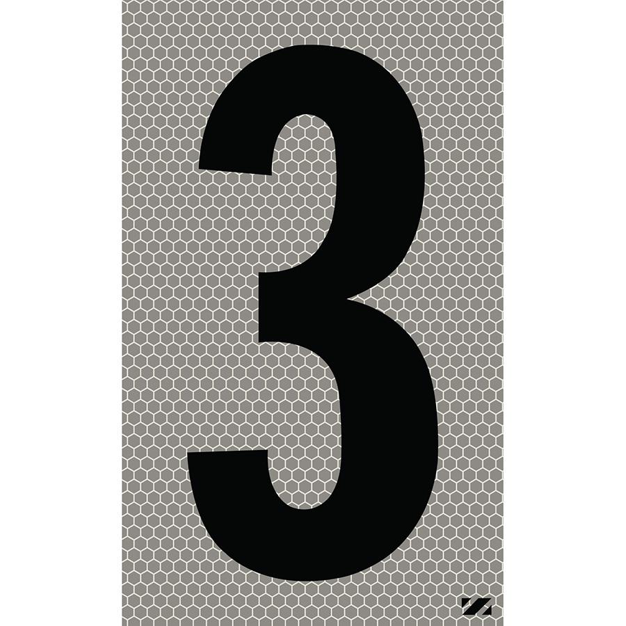 "2.5"" Black on Silver SunBright® Reflective ""3"""