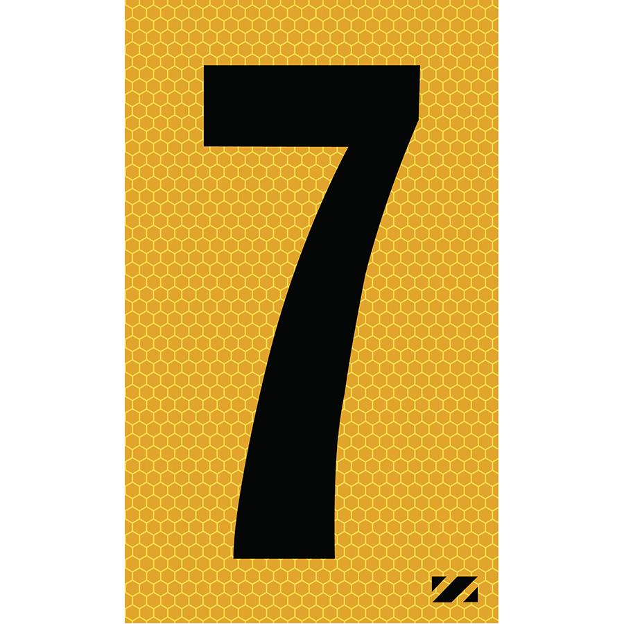 "2"" Black on Yellow SunBright® Reflective ""7"""