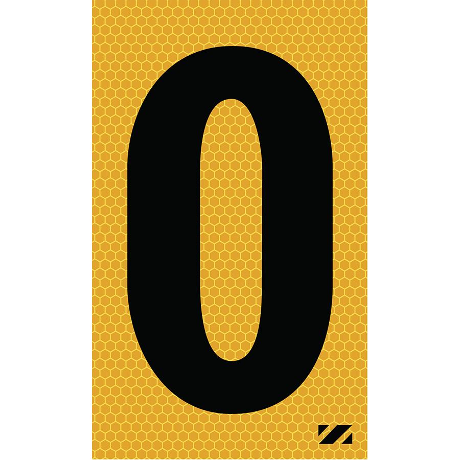 "2"" Black on Yellow SunBright® Reflective ""O"""