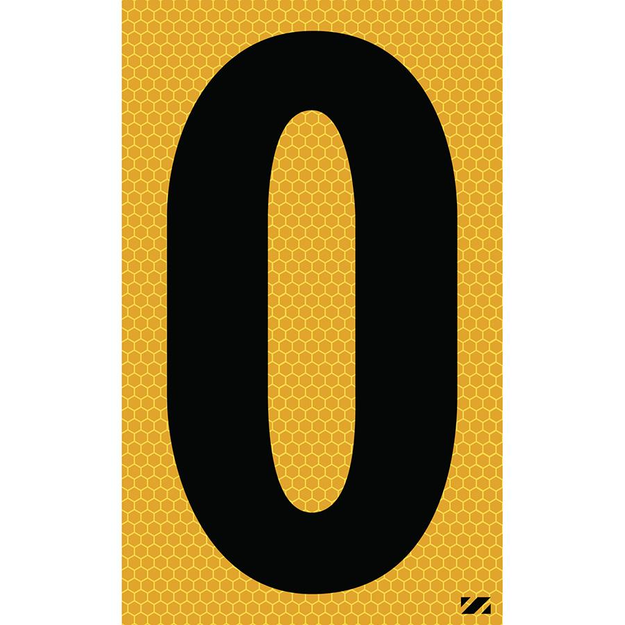 "2.5"" Black on Yellow SunBright® Reflective ""O"""