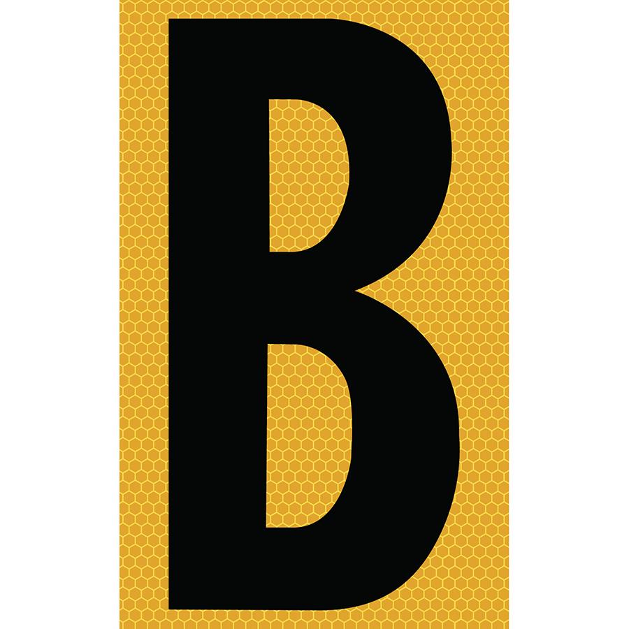 "3"" Black on Yellow SunBright® Reflective ""B"""