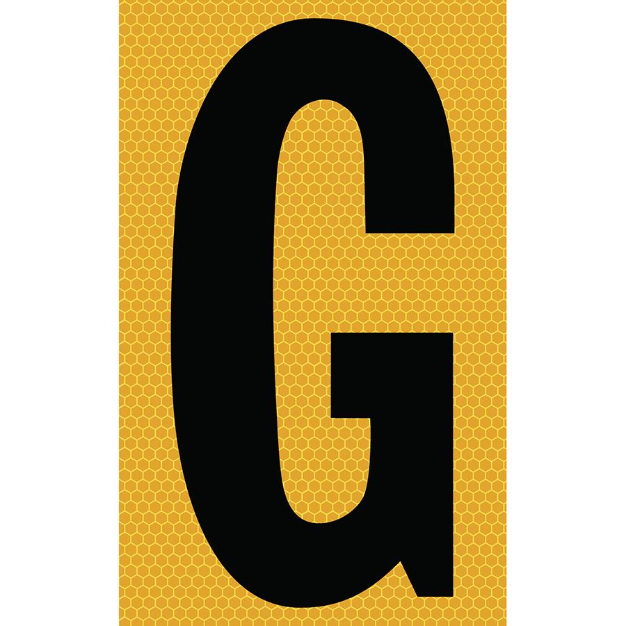 "3"" Black on Yellow SunBright® Reflective ""G"""
