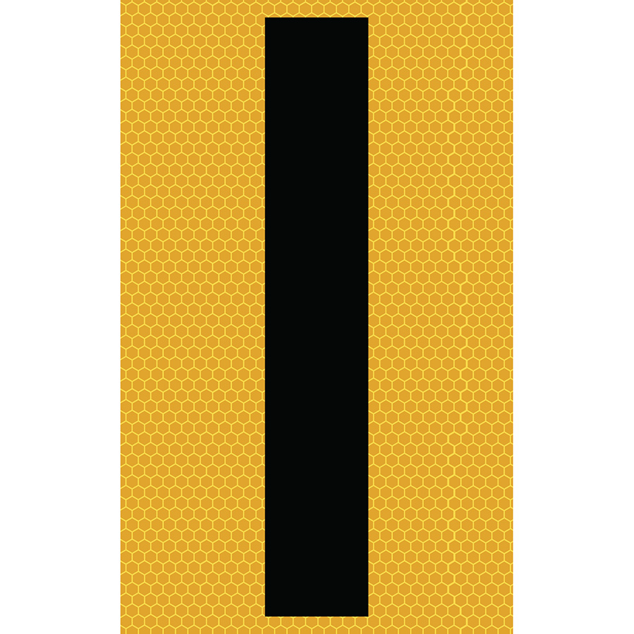 "3"" Black on Yellow SunBright® Reflective ""I"""