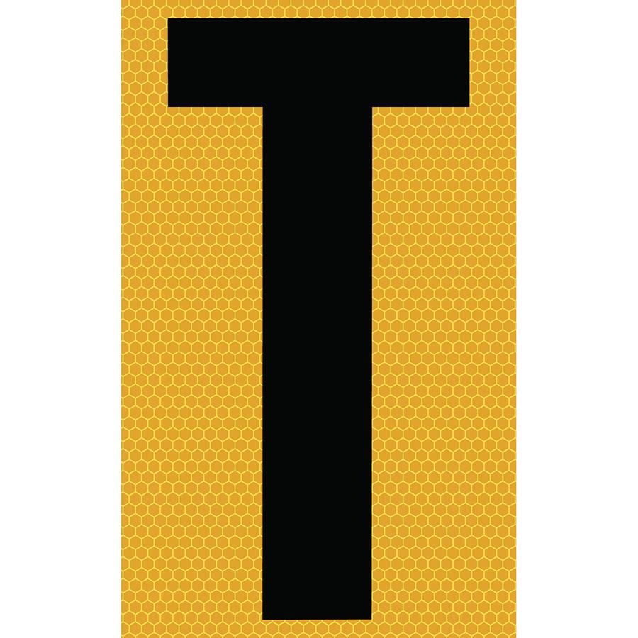 "3"" Black on Yellow SunBright® Reflective ""T"""