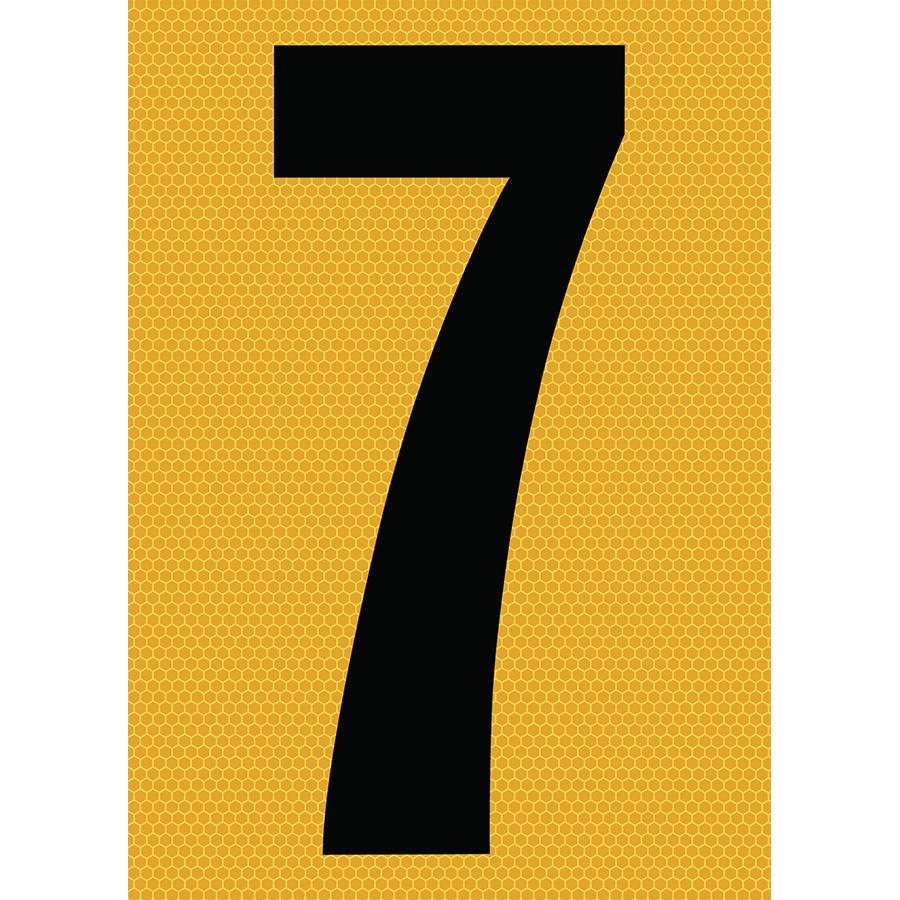 "6"" Black on Yellow SunBright® Reflective ""7"""
