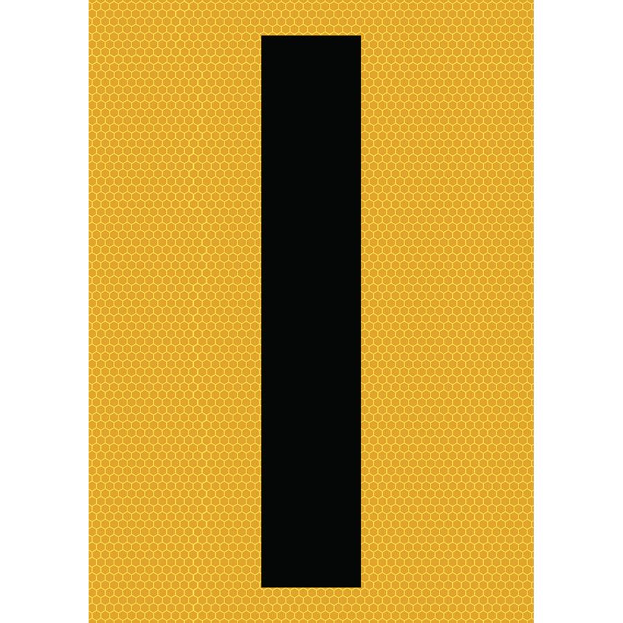 "6"" Black on Yellow SunBright® Reflective ""I"""