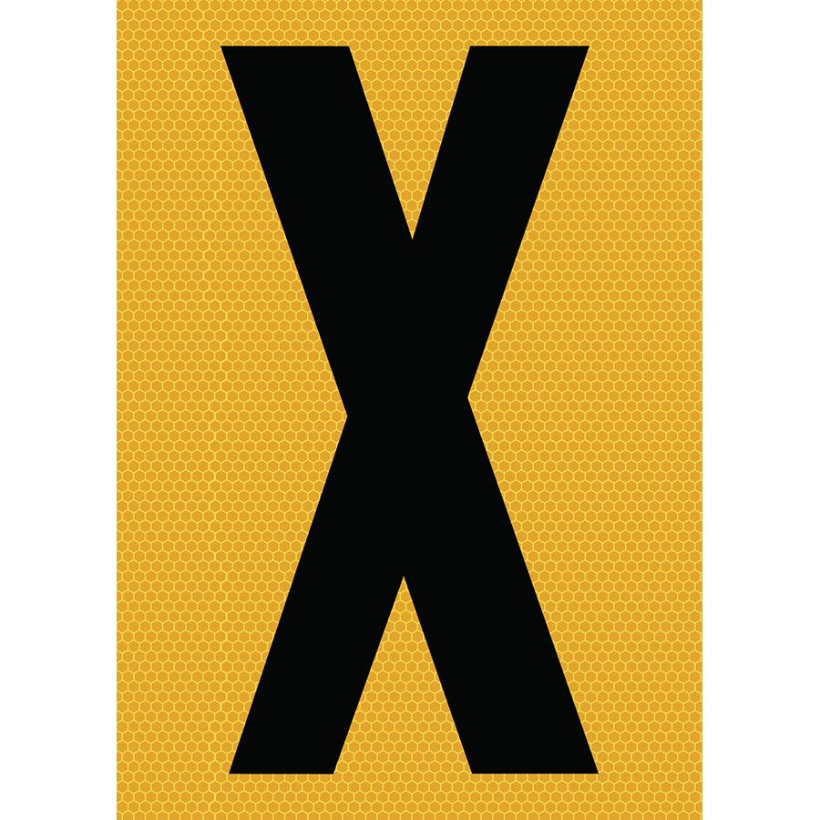 "6"" Black on Yellow SunBright® Reflective ""X"""