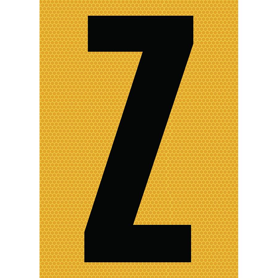 "6"" Black on Yellow SunBright® Reflective ""Z"""