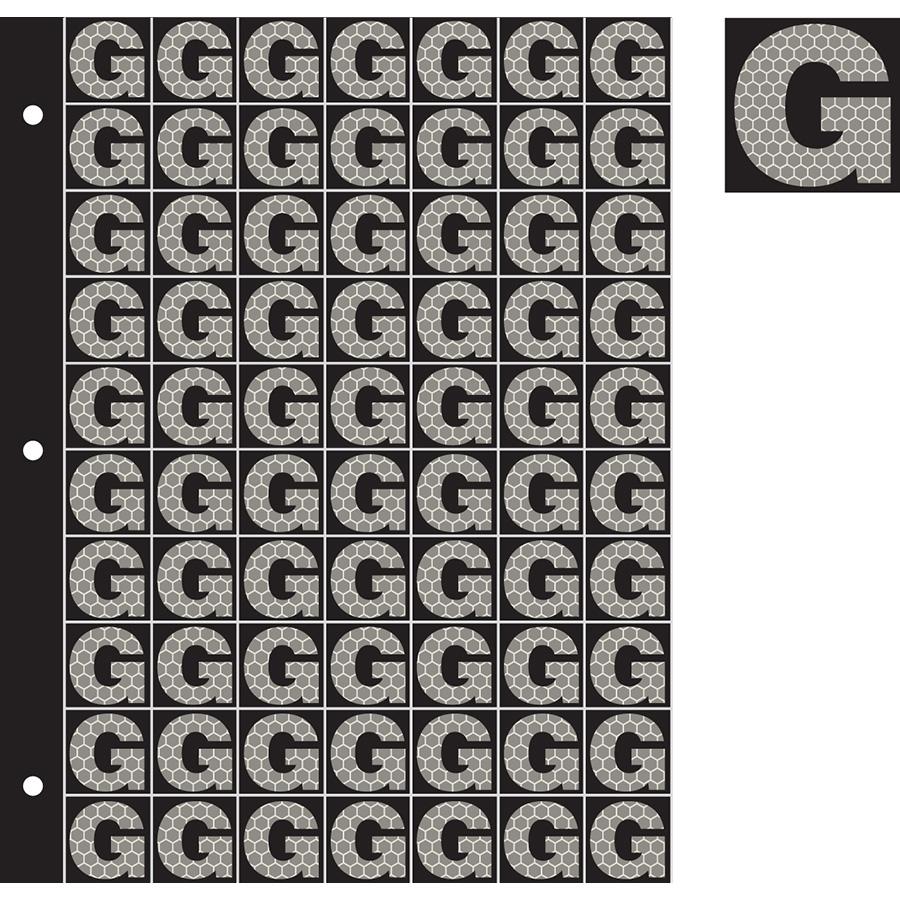 "1"" Silver on Black SunBright® Reflective ""G"""