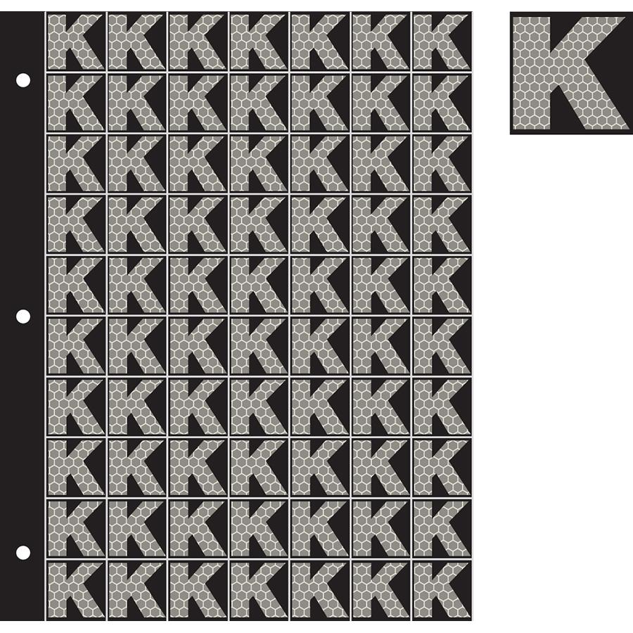 """1"""" Silver on Black SunBright® Reflective """"K"""""""
