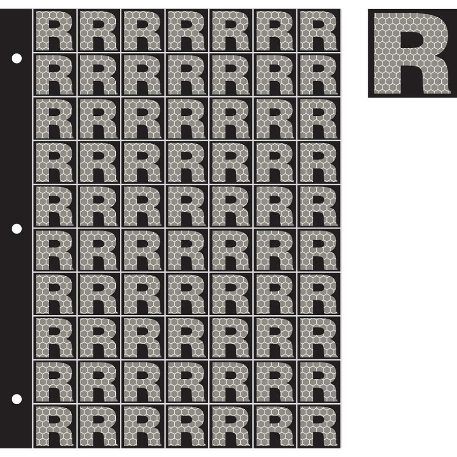 "1"" Silver on Black SunBright® Reflective ""R"""