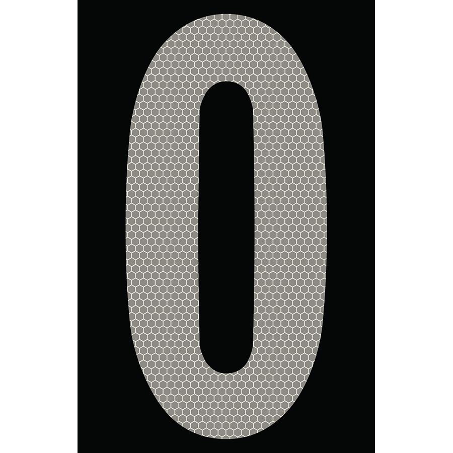 "4"" Silver on Black SunBright® Reflective ""0"""