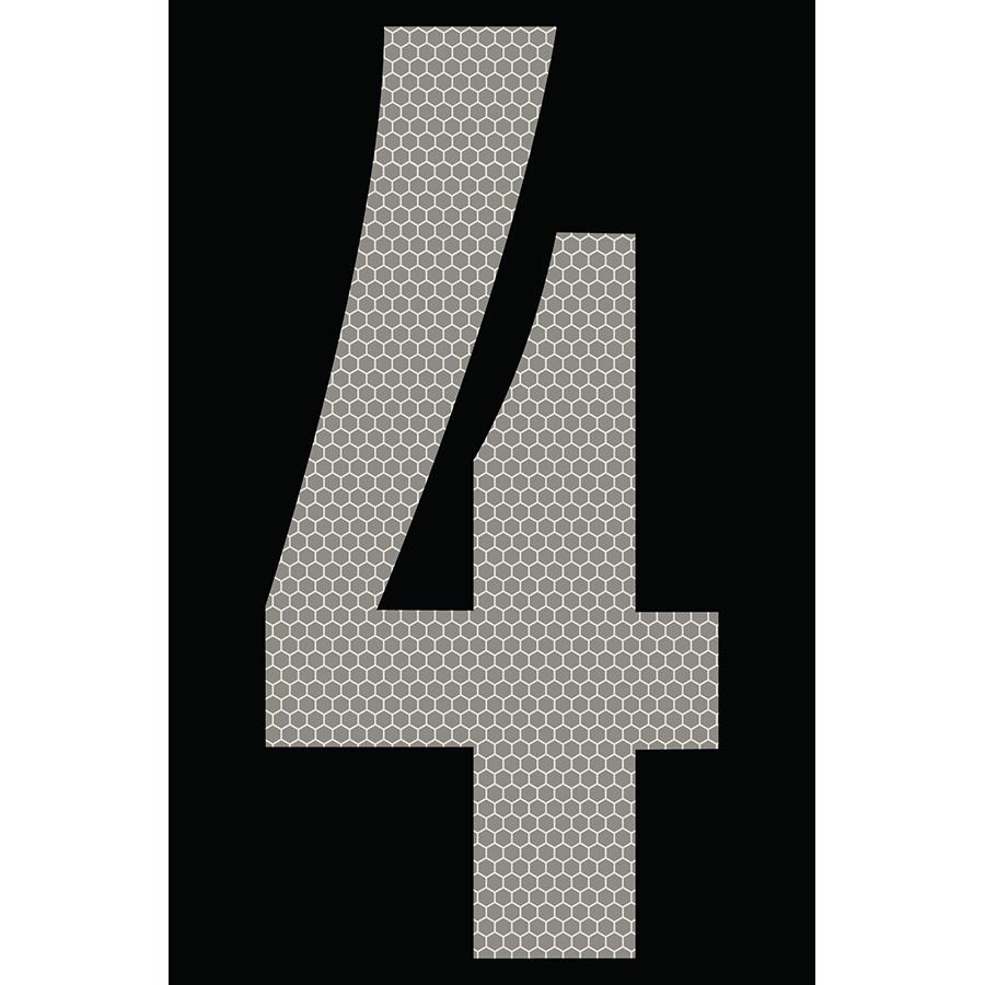 "4"" Silver on Black SunBright® Reflective ""4"""