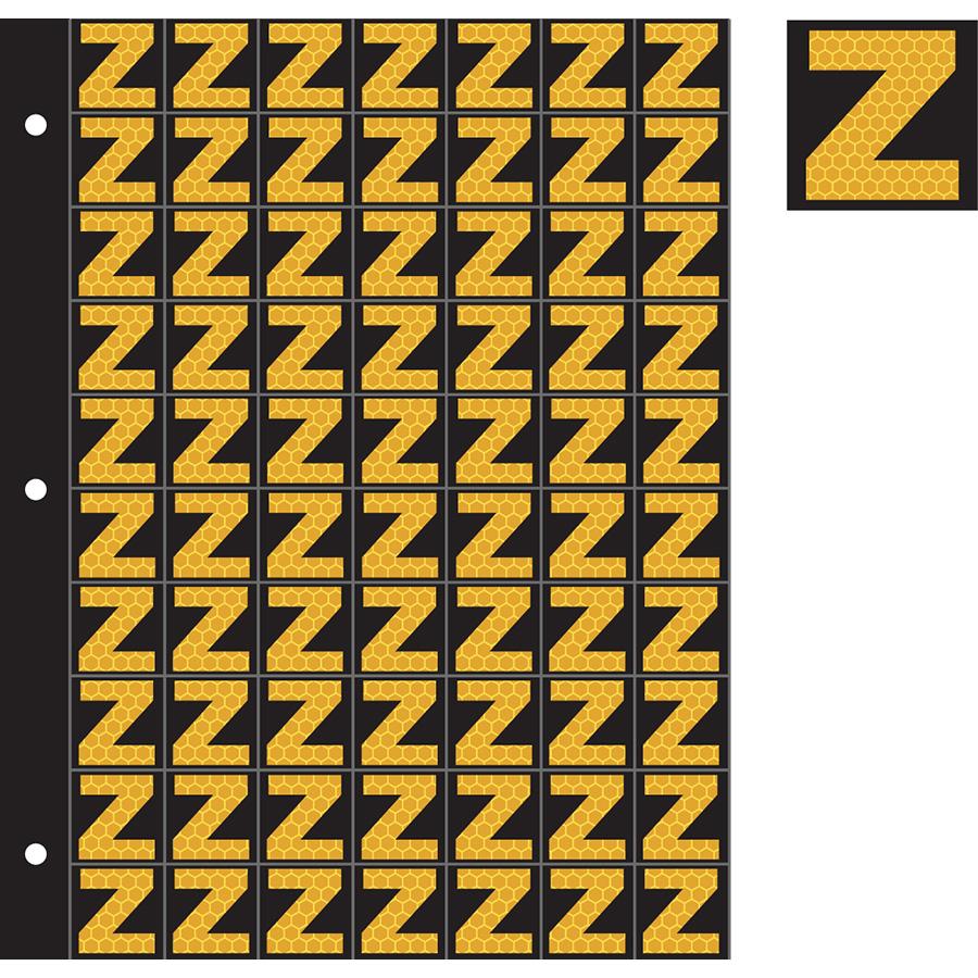 "1"" Yellow on Black SunBright® Reflective ""Z"""