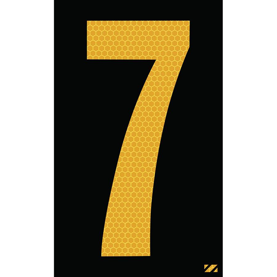 "2.5"" Yellow on Black SunBright® Reflective ""7"""