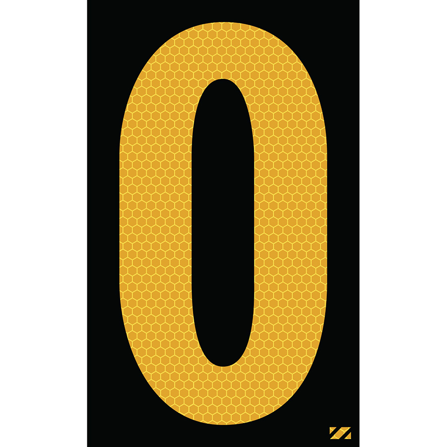 "2.5"" Yellow on Black SunBright® Reflective ""O"""
