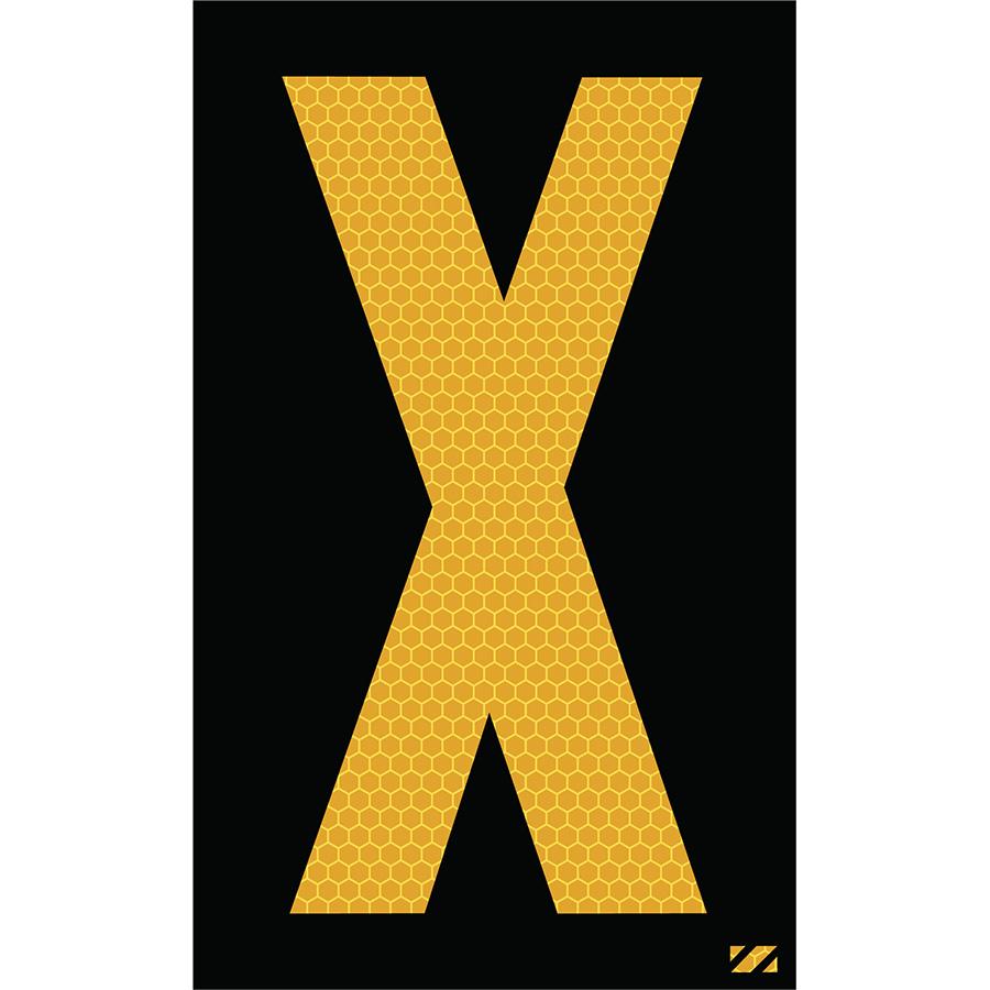 "2.5"" Yellow on Black SunBright® Reflective ""X"""