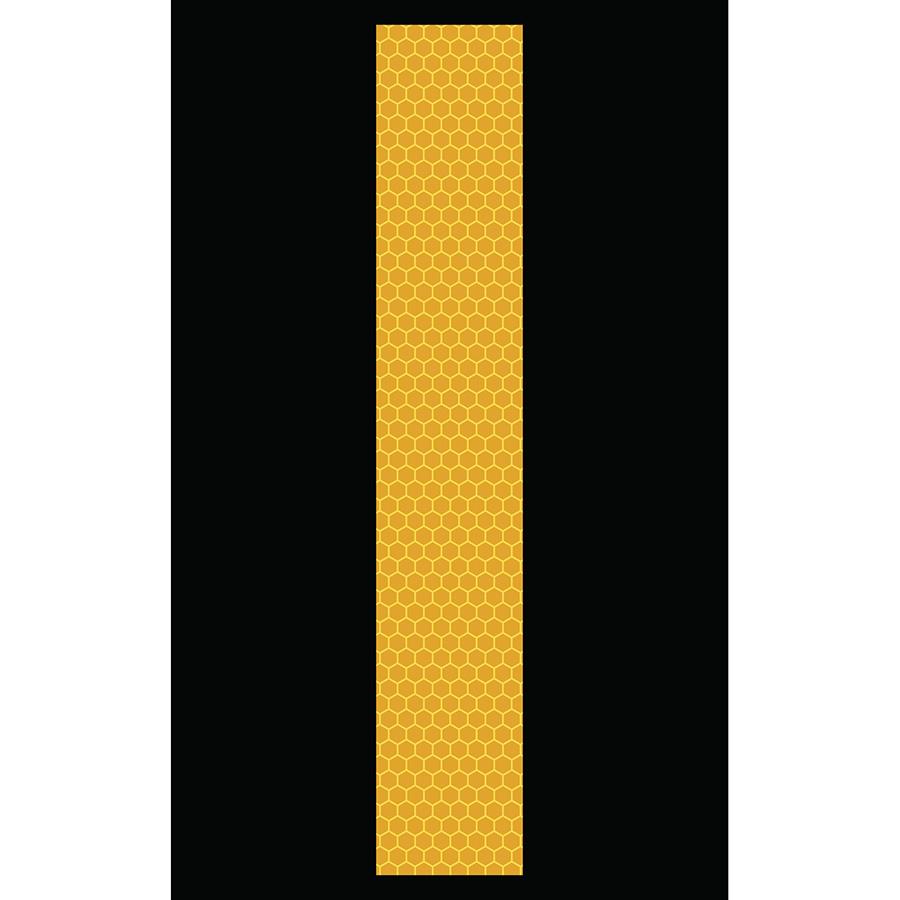 "3"" Yellow on Black SunBright® Reflective ""I"""