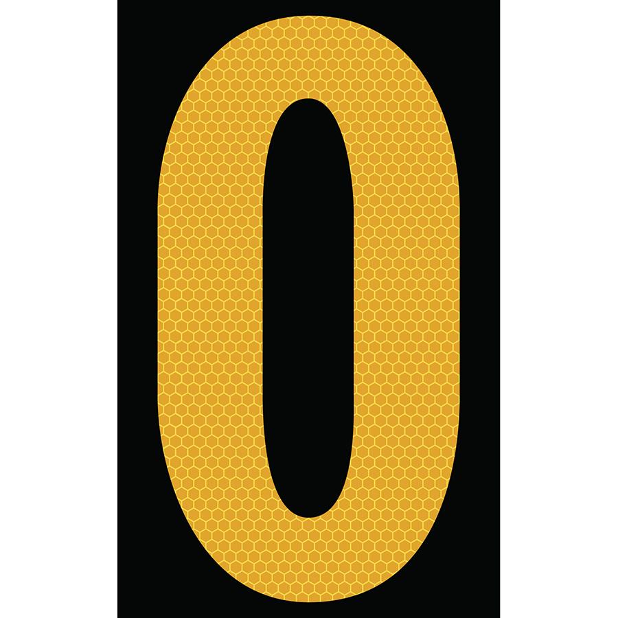 "3"" Yellow on Black SunBright® Reflective ""O"""