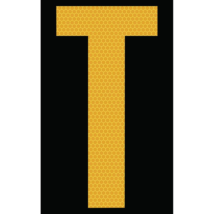 "3"" Yellow on Black SunBright® Reflective ""T"""