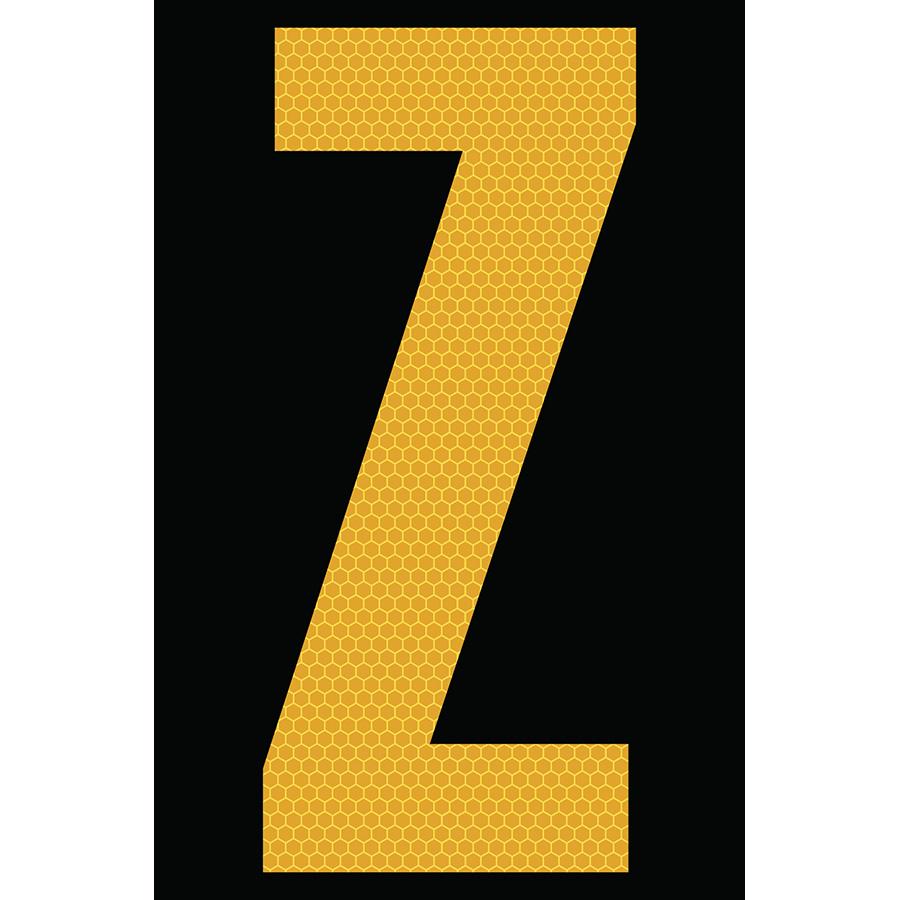 "4"" Yellow on Black SunBright® Reflective ""Z"""