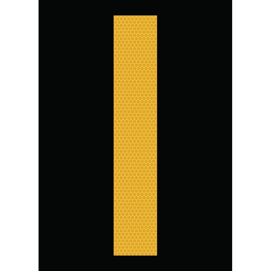 "6"" Yellow on Black SunBright® Reflective ""I"""