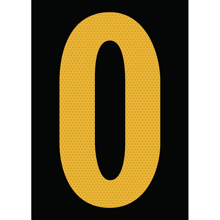 "6"" Yellow on Black SunBright® Reflective ""O"""