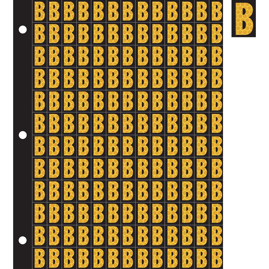 "0.78"" Yellow on Black SunBright® Reflective ""B"""