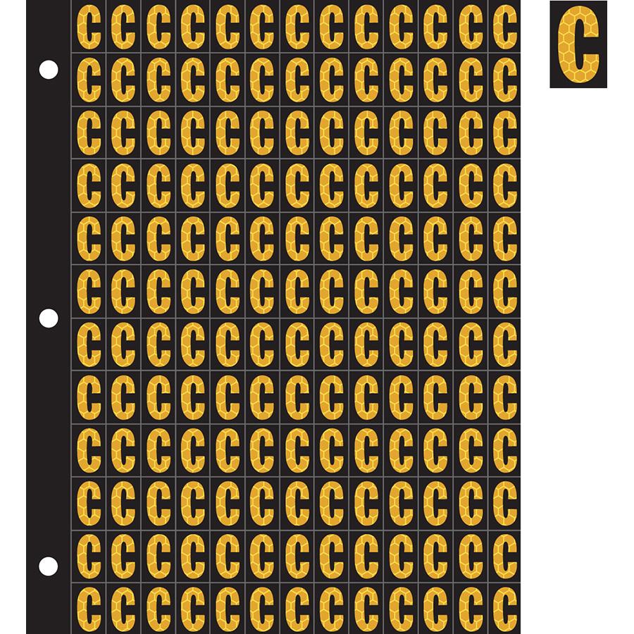 "0.78"" Yellow on Black SunBright® Reflective ""C"""