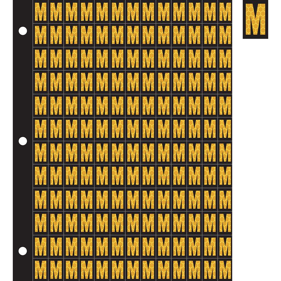 "0.78"" Yellow on Black SunBright® Reflective ""M"""