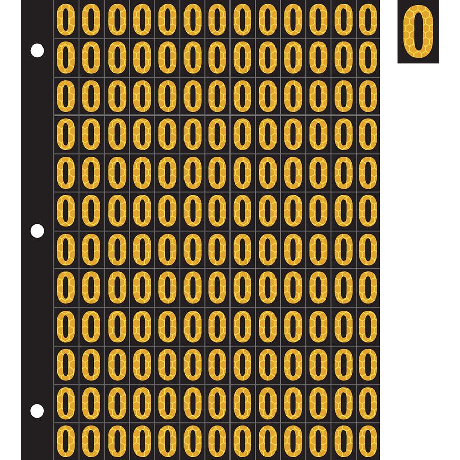 "0.78"" Yellow on Black SunBright® Reflective ""O"""