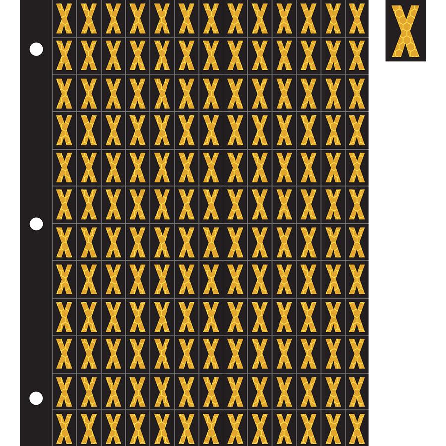 "0.78"" Yellow on Black SunBright® Reflective ""X"""