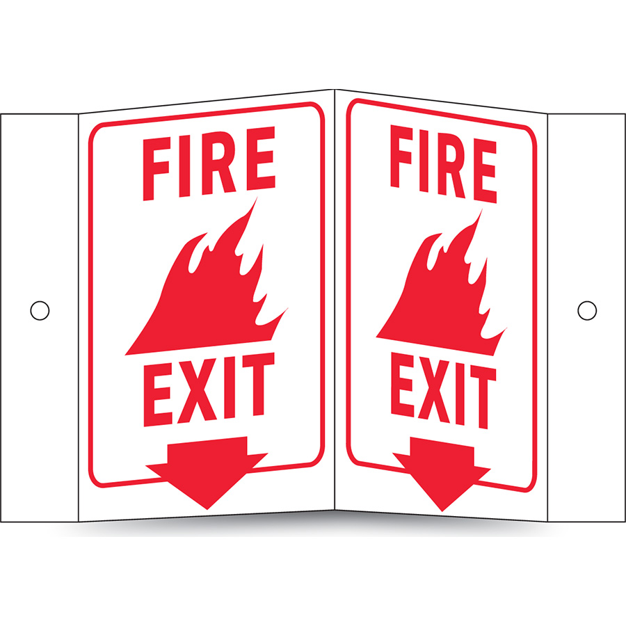 Glow in the Dark Fire Exit Projecting Sign