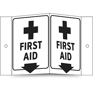 Glow in the Dark First Aid Projecting Sign