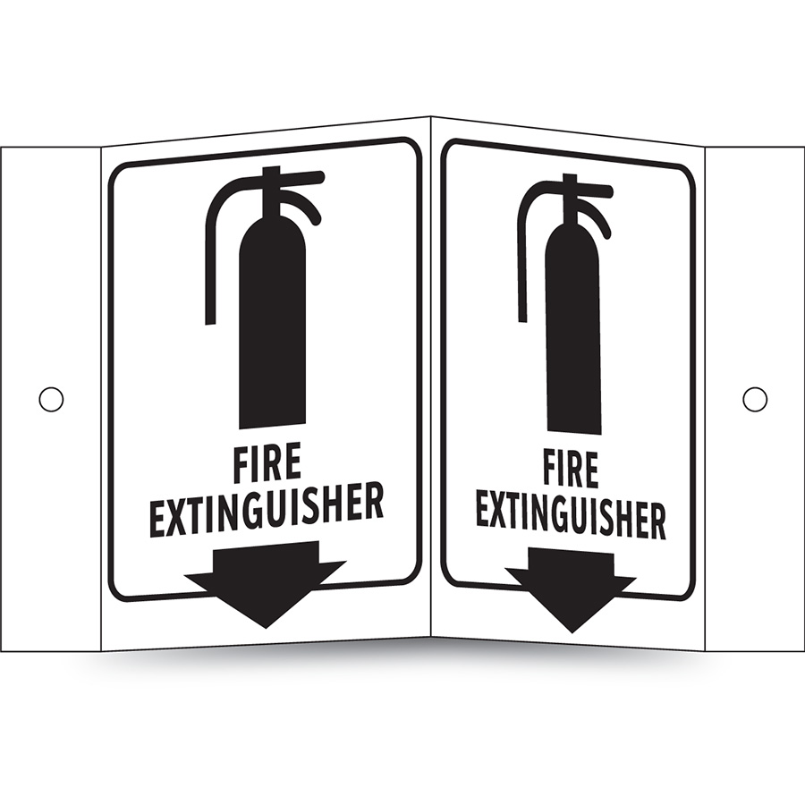 Glow in the Dark Fire Extenguisher Projecting Sign