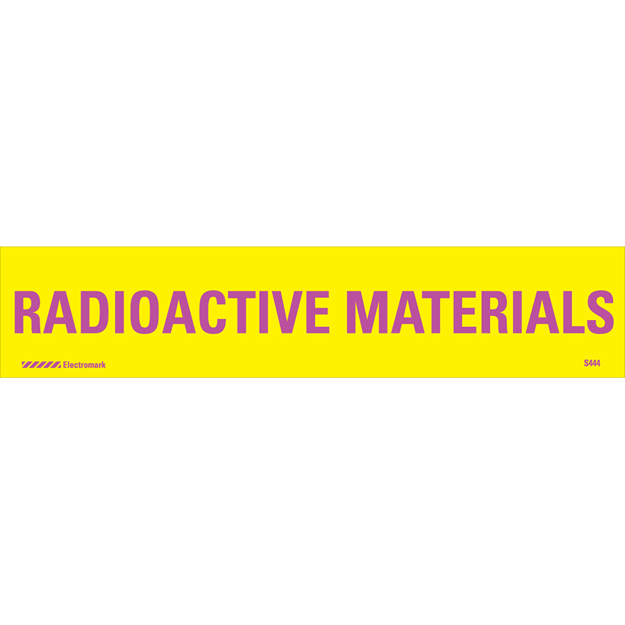 Radioactive Materials Radiation J-Sign Insert