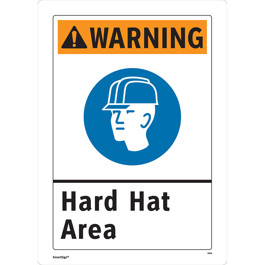 ANSI Warning Hard Hat Area Sign