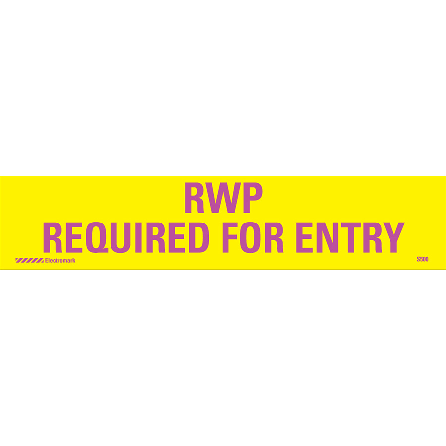 RWP Required for Entry Radiation J-Sign Insert