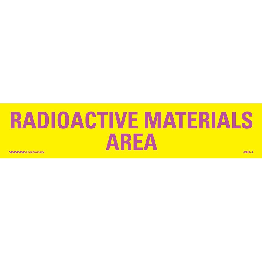 Radioactive Materials Area Radiation J-Sign Insert