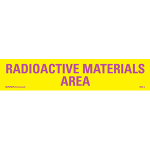 Radioactive Materials Area Radiation J-Sign Insert