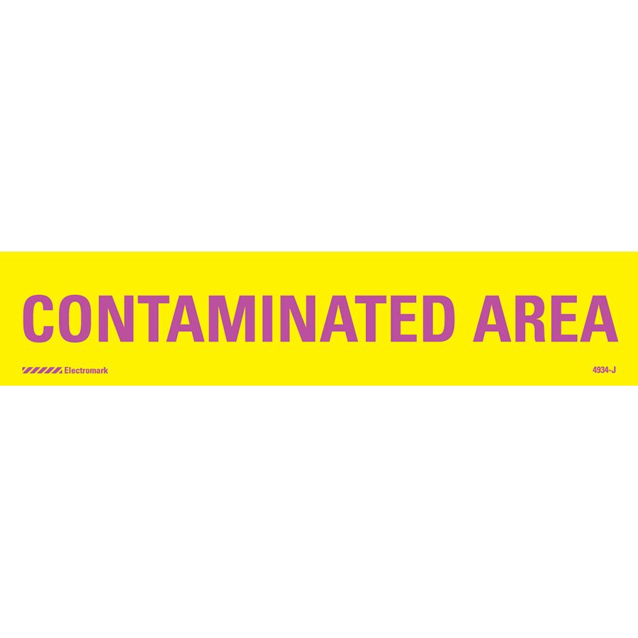 Contaminated Area Radiation J-Sign Insert