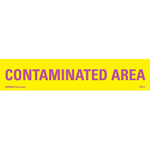 Contaminated Area Radiation J-Sign Insert
