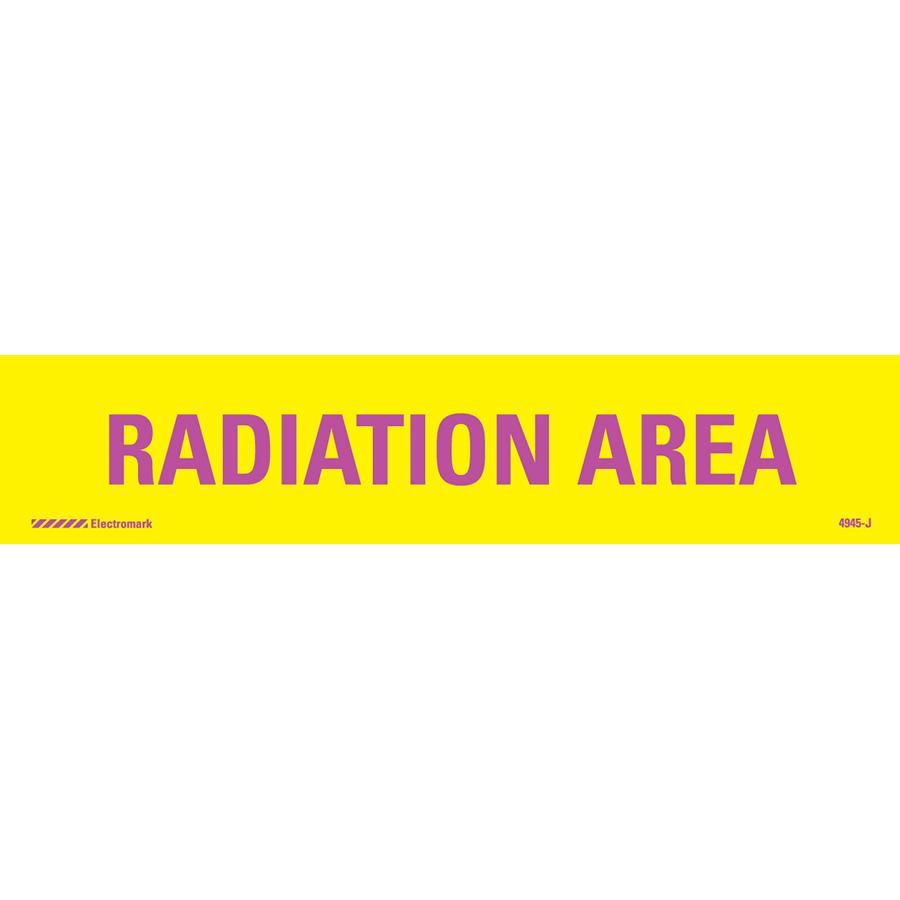 Radiation Area Radiation J-Sign Insert